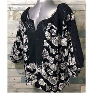 Free People Oversized Floral Blouse Size L